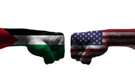 在2个国家之间的战争 免版税库存照片