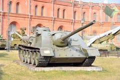在1944年100个mm自走枪SU-100样品 免版税库存照片