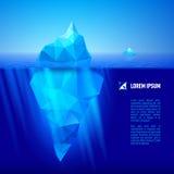 在水之下的冰山 免版税库存图片