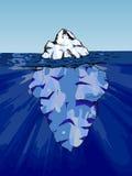 在水之下的冰山 库存照片