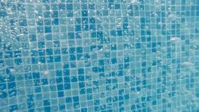 在水之下的泡影 在池的水 股票视频