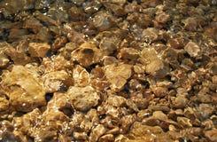 在水之下的石头 库存图片