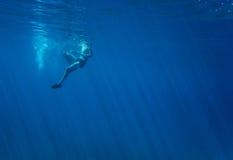在水之下 库存照片