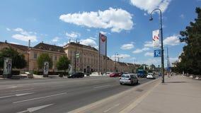 在维也纳上街道  库存图片