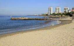 在巴亚尔塔港的海滩 库存图片