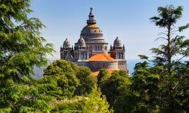 在维亚纳堡,葡萄牙附近的教会 免版税库存照片