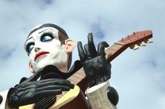 在维亚雷焦狂欢节的皮埃罗浮游物 免版税图库摄影