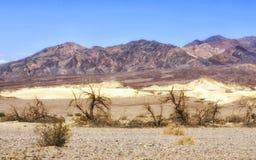 在死亡谷,美国的沙漠视图 免版税库存图片