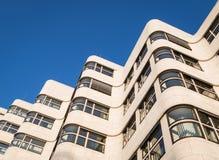 在1932年亦称壳Haus Gasag大厦是埃米尔设计的一个古典现代派建筑杰作Fahrenkamp 免版税库存图片