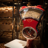 在主人的葡萄酒标度2013年在米兰,意大利 库存图片