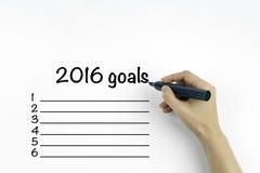 在2016年企业目标 免版税库存照片