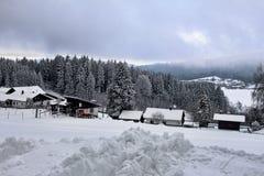 在巴伐利亚的冬天风景 图库摄影