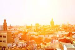 在巴伦西亚,西班牙的看法 免版税库存照片