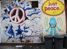 在更低的东边的墙壁上的艺术在曼哈顿 图库摄影