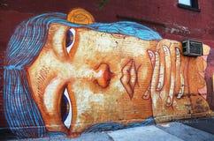 在更低的东边的墙壁上的艺术在曼哈顿 免版税库存图片