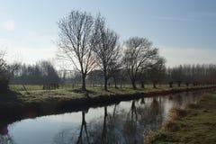 在更低的莱茵河地区的早期的春天 图库摄影