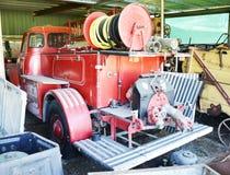 在仓促的消防车 库存图片
