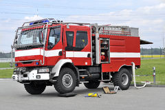 在仓促的消防车 免版税库存图片