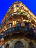 在整修哈瓦那古巴下的El Capitolio 免版税库存图片