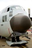 在洛克希德航空器的电灯泡鼻子 免版税库存照片