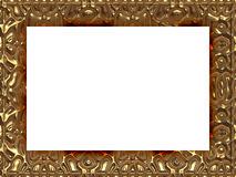 在巴洛克式的样式引起的纹理的框架 库存图片