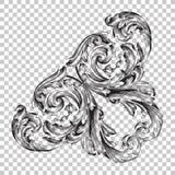 在巴洛克式的样式的孤立壁角装饰品 免版税图库摄影