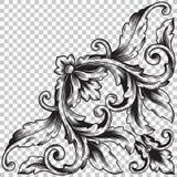 在巴洛克式的样式的孤立壁角装饰品 免版税库存照片