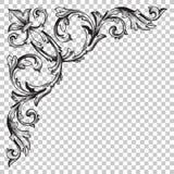 在巴洛克式的样式的孤立壁角装饰品 库存照片