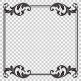 在巴洛克式的样式的孤立装饰品 免版税库存照片