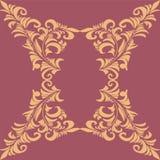 在巴洛克式的样式的手拉的装饰品 免版税库存图片