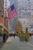 在洛克菲勒中心的圣诞树 免版税库存图片