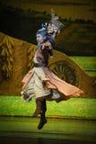 在贺兰的军事艺术惠山芭蕾月亮 库存照片