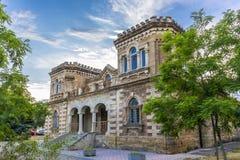 在经典样式大厦fascade的看法在Evpatoria镇 库存照片