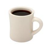 在经典白色吃饭的客人杯的咖啡 免版税图库摄影