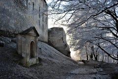 在结冰的城堡 免版税库存图片