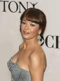 在2010年凯瑟琳・泽塔-琼斯目炫在第64个每年托尼奖 免版税库存照片