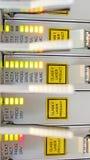 在移动运营商datacenter的光学多重通道  免版税库存图片