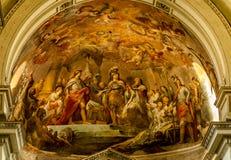 绘画在巴勒莫大教堂里 库存照片