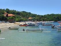 在巴厘岛的海滩风景 库存照片