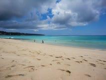 在巴厘岛的理想国海滩 库存图片