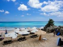 在巴厘岛的理想国海滩 免版税库存照片