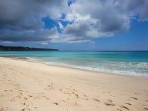 在巴厘岛的理想国海滩 免版税库存图片