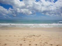 在巴厘岛的理想国海滩 库存照片
