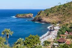 在巴厘岛的美丽的海湾 免版税库存照片