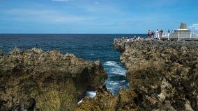 在巴厘岛的水打击 免版税库存照片