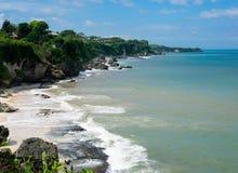 在巴厘岛,印度尼西亚的沿海线 免版税库存图片