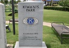 在1972年吉瓦尼斯俱乐部停放建立, Millington, TN 免版税图库摄影