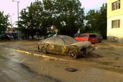 在洪水以后在瓦尔纳保加利亚6月19日 免版税库存图片