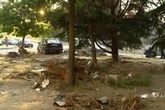 在洪水以后在瓦尔纳保加利亚6月19日 库存图片