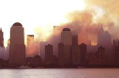 在911以后的天 库存图片